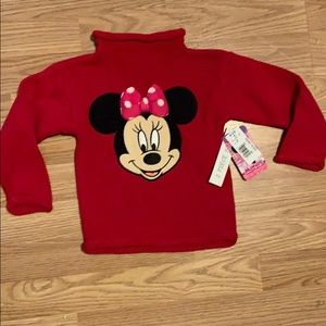 Toddler girls 2T Minnie Mouse sweater NICE NWT